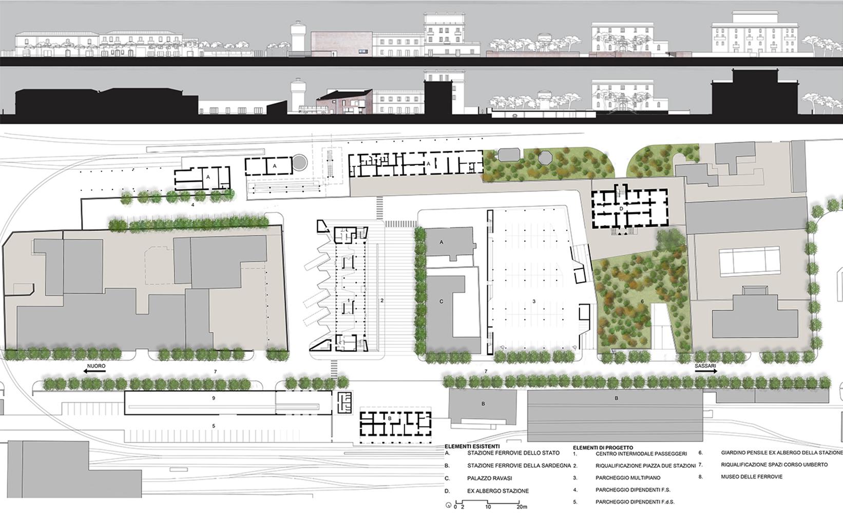 Planimetria e sezioni urbane