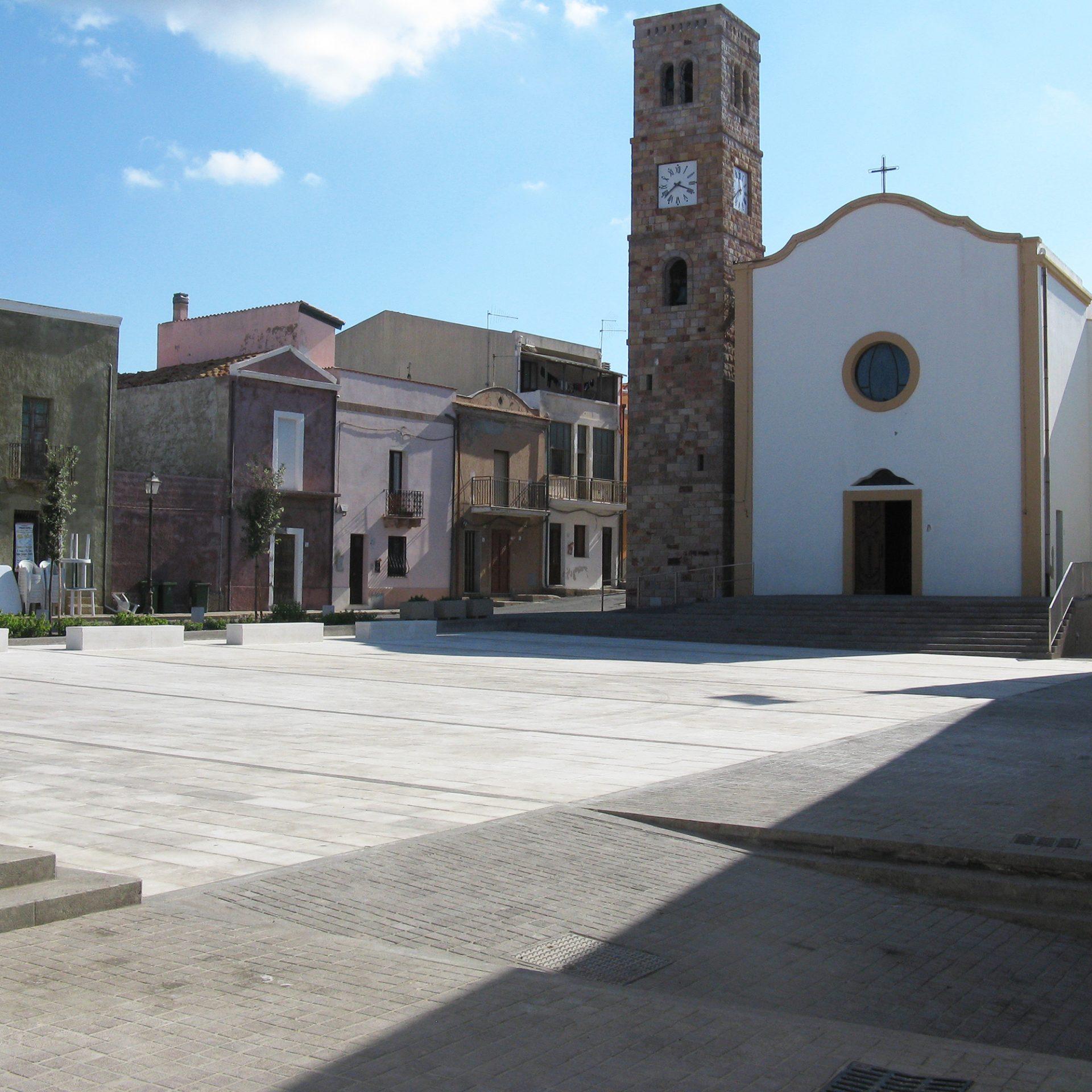 Portoscuso. Piazza Giovanni XXIII