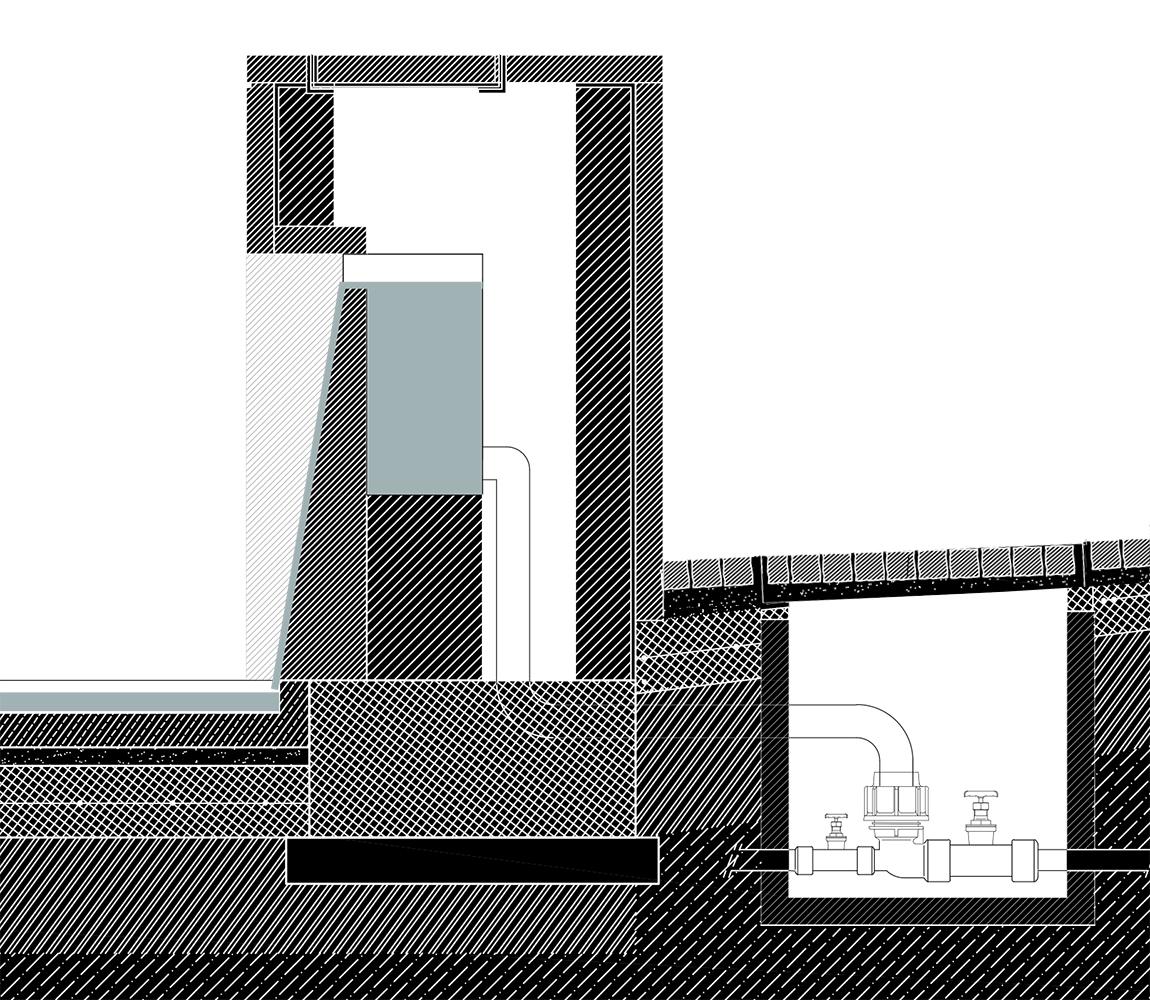 Dettaglio costruttivo fontana